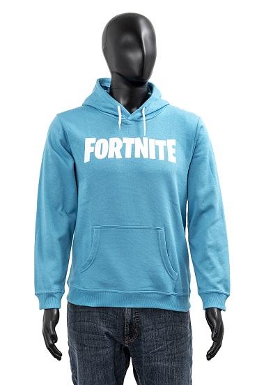 Fortnite Hoodie Kids Logo hellblau Größe 176