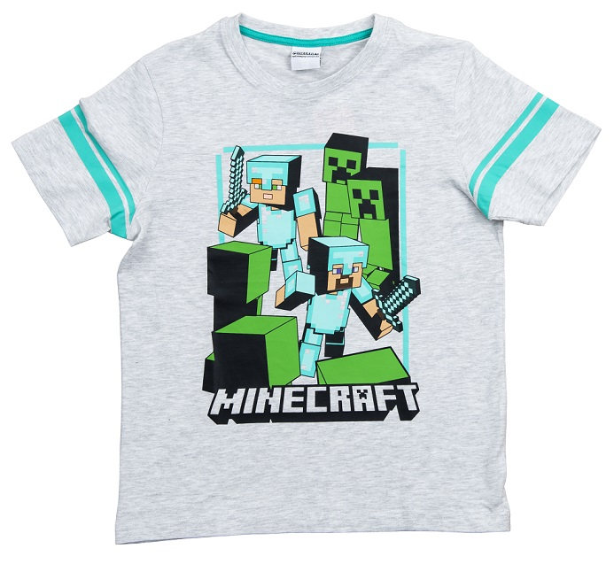 Minecraft T-Shirt Good Odds grau Größe 152