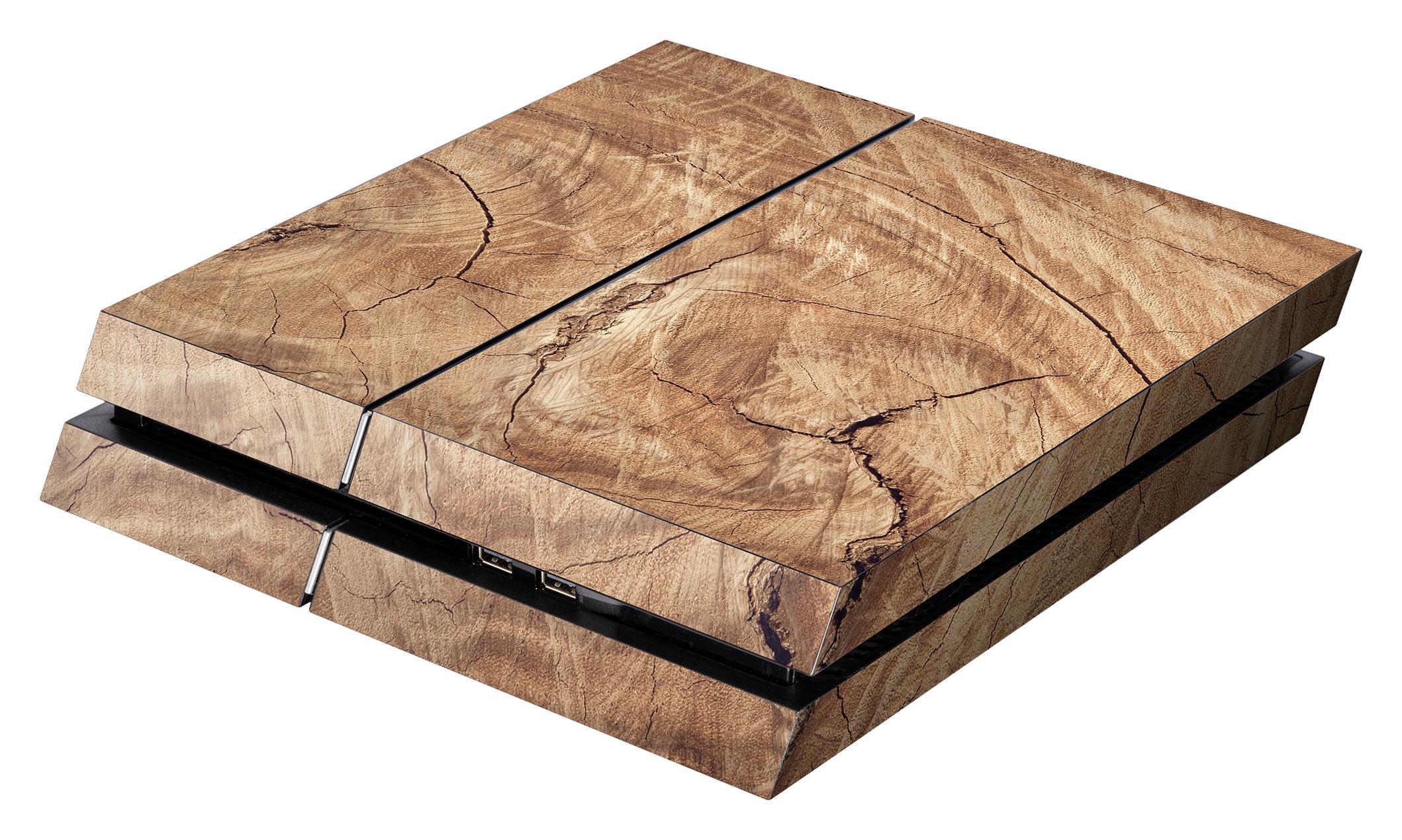Skins - Sticker für PlayStation 4 Konsole (Wood)