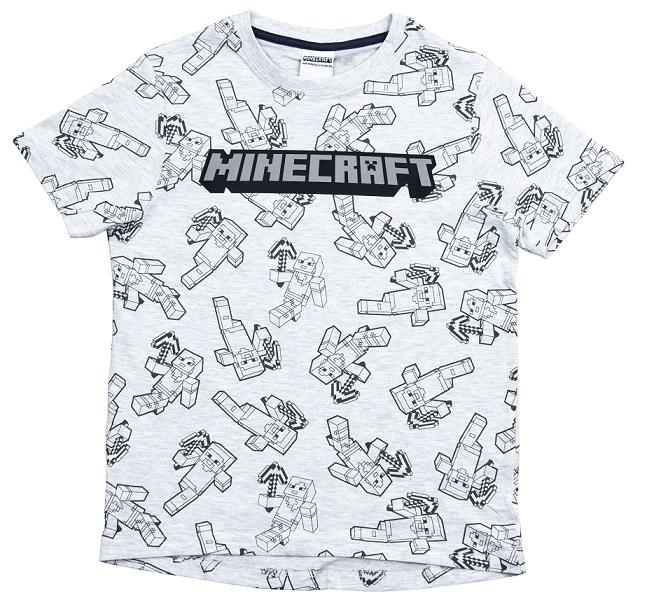 Minecraft T-Shirt MiningTeam hell grau Größe 116