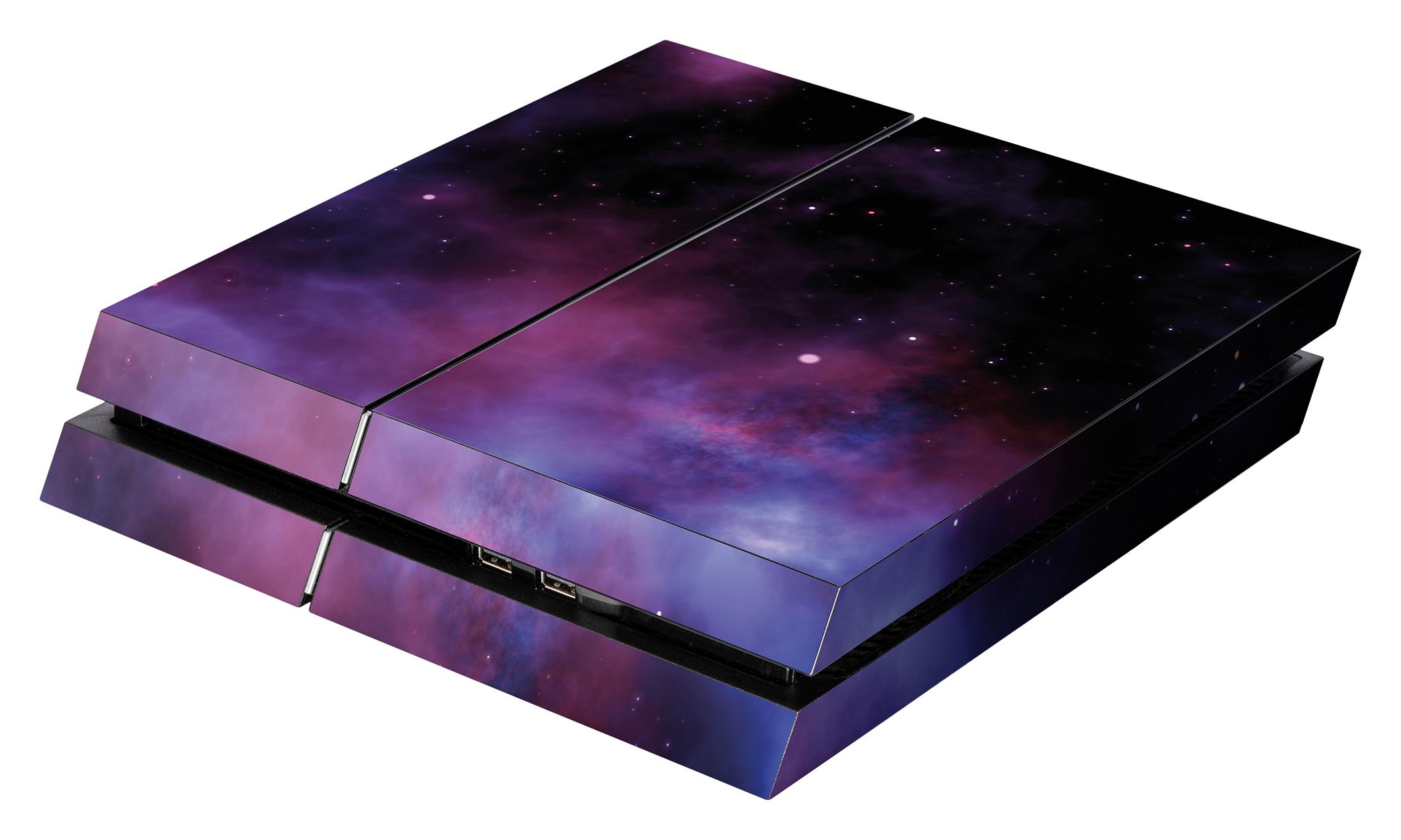 Skins - Sticker für PlayStation 4 Konsole (Galaxy Violet)