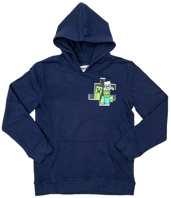 Hoodie Minecraft dunkel blau Größe 128