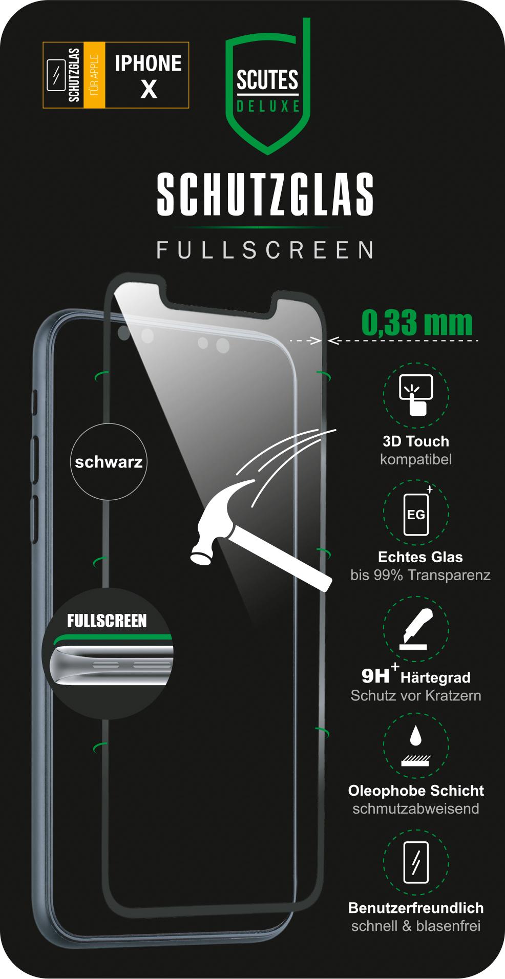 Fullscreen Schutzglas (iPhone X/XS)