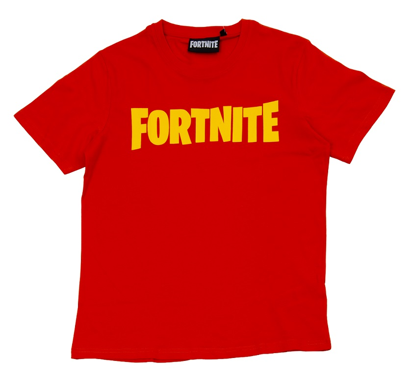 Fortnite T-Shirt Kids Logo rot Größe 152