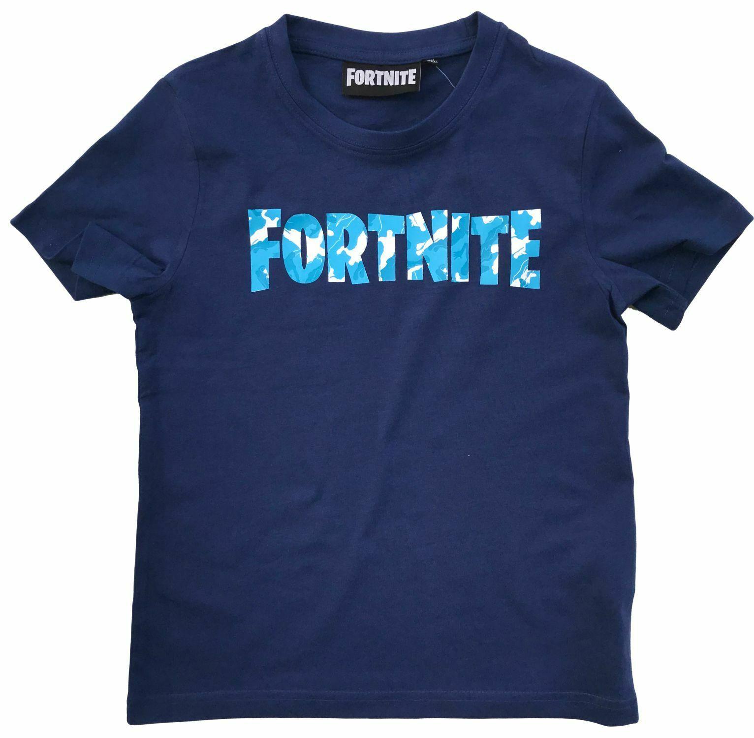 Fortnite T-Shirt Logo dunkel blau Größe 152