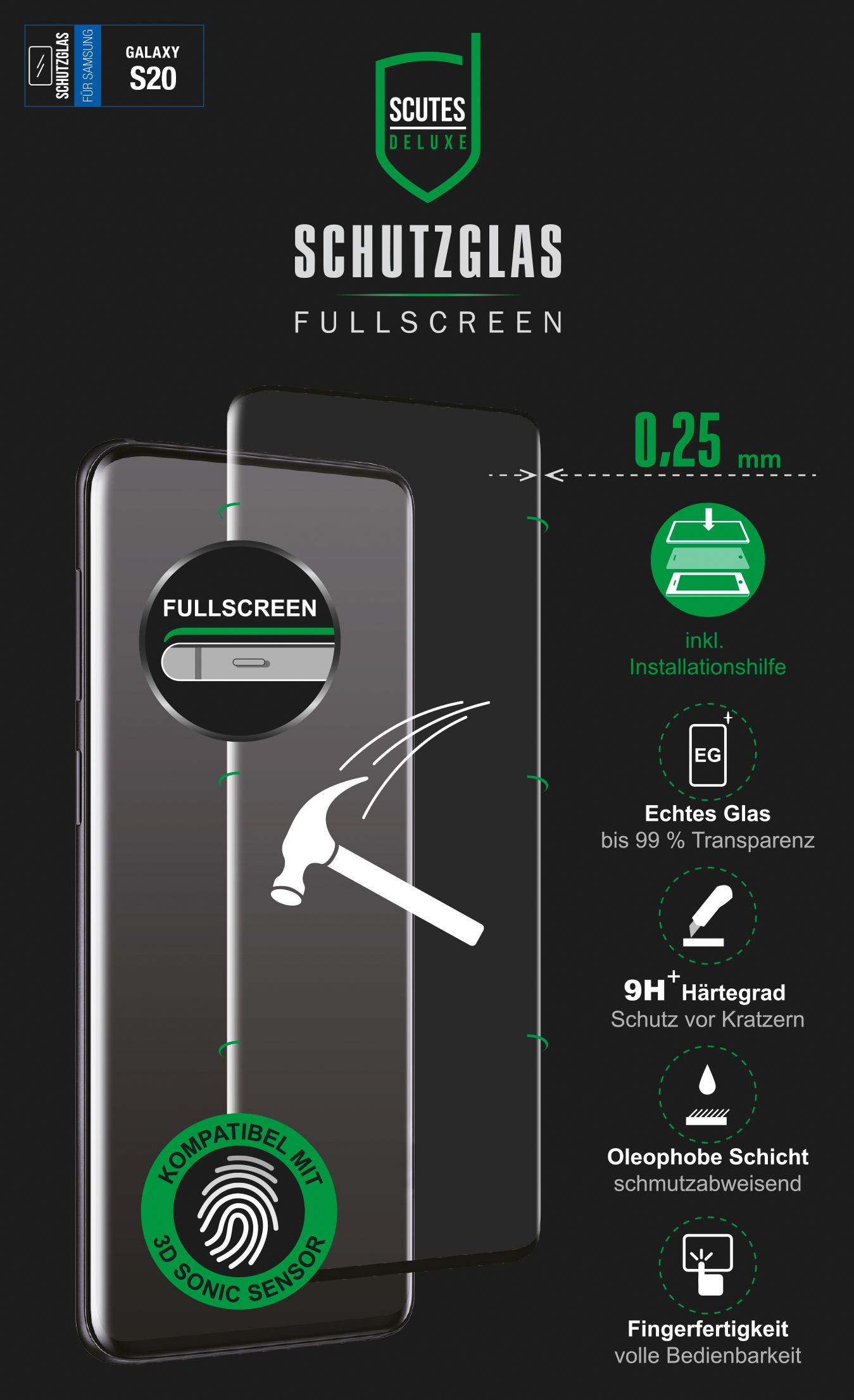 Fullscreen Schutzglas (Samsung Galaxy S20)