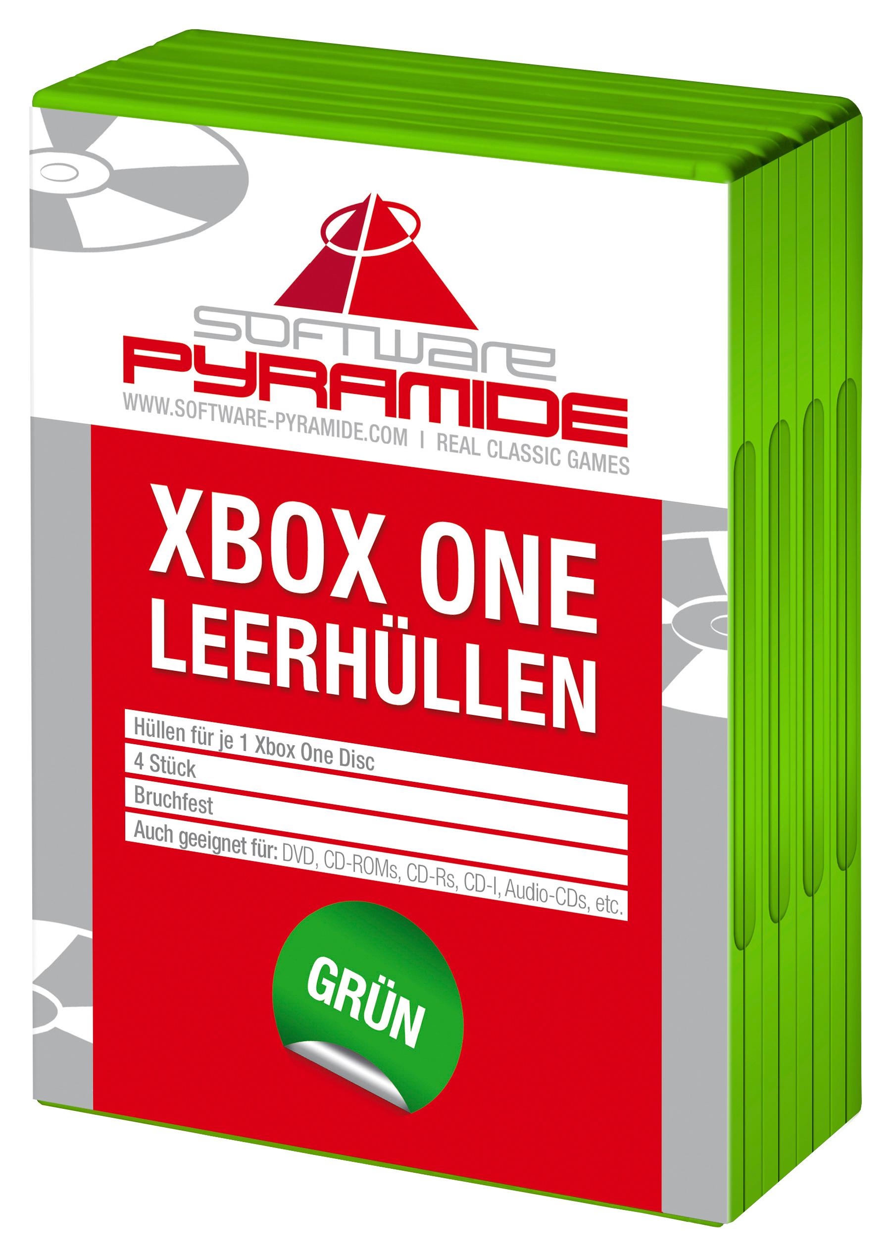 Xbox One-Leerhüllen 4er-Pack, grün